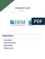 HEM FES Techniques de l'Audit