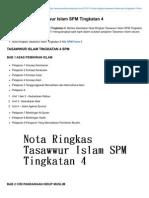 Nota Ringkas Tasawwur Islam SPM Tingkatan 4