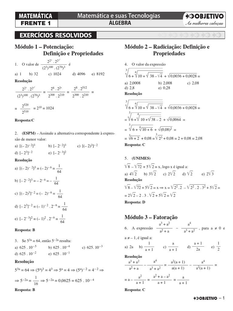 bfdd2996be 1.2. MATEMÁTICA - EXERCÍCIOS RESOLVIDOS - VOLUME 1.pdf