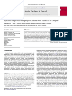 Synthesis of Gasoline-range Hydrocarbons Over Mo HZSM-5 Catalysts