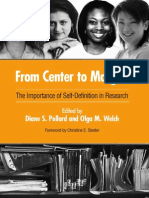 From Center to Margins the Importance of Self-Definition in Research
