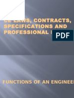 Ce Laws, Contracts, Specifications and Professional
