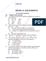 8 Chapter Chemical Equilibrium Text Book Exercise
