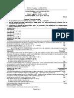 Barem de corectare model de subiecte Chimie Organică profil Tehnologic Bac 2016