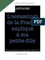Antigone Assassinat de La France