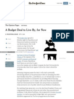 Www Nytimes Com 2015-10-28 Opinion a Budget Deal to Live By