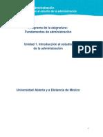 Unidad 1. Introduccion Al Estudio de La Administracion