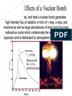 Radiation Effects of a Nuclear Bomb