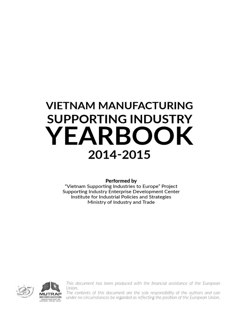 Vietnam Manufacturing Supporting Industry Yearbook 2014 2015 | Numerical  Control | Ho Chi Minh City