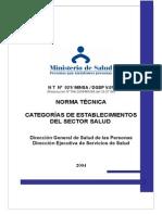 norma Salud - Categorizacion Agosto 2004