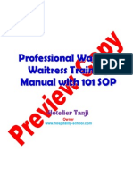 Waiter Training Manual Preview Copy