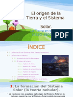 El Origen de La Tierra y El Sistema Solar