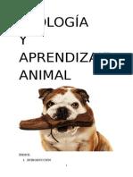 Trabajo Etología y Aprendizaje Animal