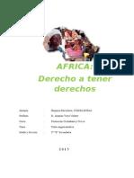 Africa - derechos a tener derechos
