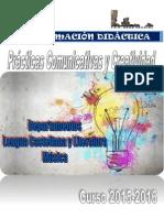 1º ESO Prácticas Comunicat-Creativ, 2015 -16