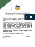 Chiusura Campagna Elettorale FabrizioCamilli