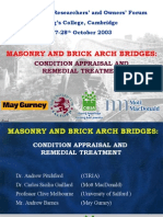 masonry& Brick Arch Bridges Condition Appraisal& Remedial Treatment