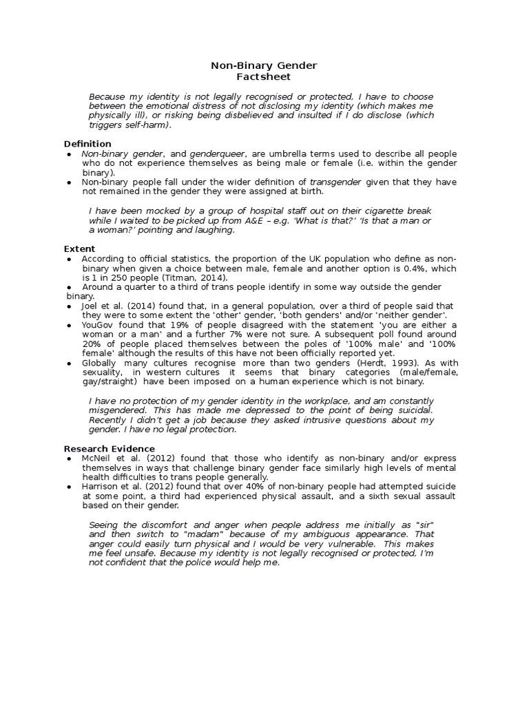 non-binary-gender-factsheet | lgbtq rights | transgender
