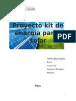 Proyecto Kit de Energía Panel Solar