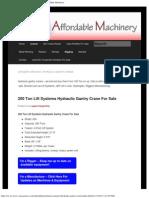 Used Hydraulic Gantry System Cranes For Sale