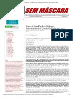 Mídia Sem Máscara - Foro de São Paulo e Diálogo Interamericano_ Pacto Firmado Em 1993