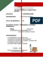 Política Económica Del Gobierno de Ollanta Humala Tasso