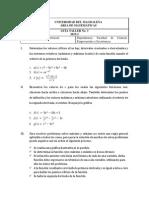 Taller No 3 Cálculo Diferencial