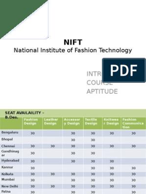 Nift Test Assessment Secondary Education