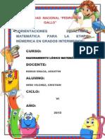 Orientaciones Didacticas Matematicas Para La Etapa Númerica
