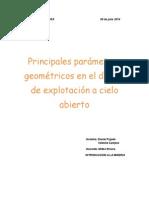 Diseño de Accesos y Parámetros Geométricos de Una Mina a Cielo Abierto