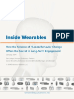 EndeaEndeavour Partners Wearables and the Science of Human Behavior Change Part 1 January 2014