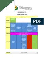 Semana de La Calidad Programa Ago-Dic 2015