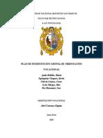 Plan de Intervención Grupal de Orientación Vocacional