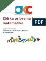 Zbirka Priprema Sa Seminara AON Matematike