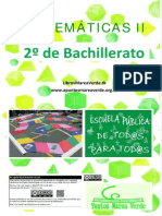 Matematicas II Bachillerato-Marea Verde