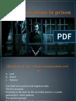 Communications in Prison- Prezentacija