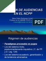 Audiencias en El Nuevo Codigo Procesal Penal-perú