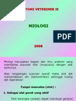 Myologi 1. Anatomi Vet II