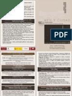 Programa 18 Noviembre Jornadas Arte y Ciudad