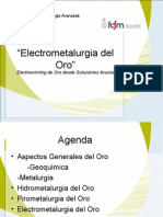 Electrometalurgia del Oro