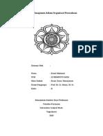 peran manajemen dalam organisasi