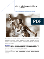 Reestructuración de la justicia penal militar y policial