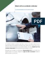 Responsabilidad civil en accidente vehicular