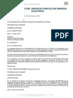 A2 Ley Organica Del Servicio Publico de Energia Electrica