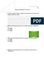 measuring realistically lesson 1 worksheet