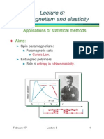 Paramagnetism and Elasticity