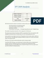 IIFT 2009 Analysis