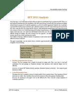 IIFT 2011 Analysis