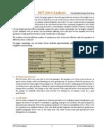 IIFT 2014 Analysis
