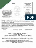 Ordenanza Del Semat.